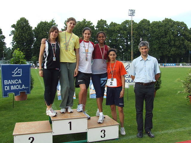 Podium at Regional Track and Field Championships, 2008
