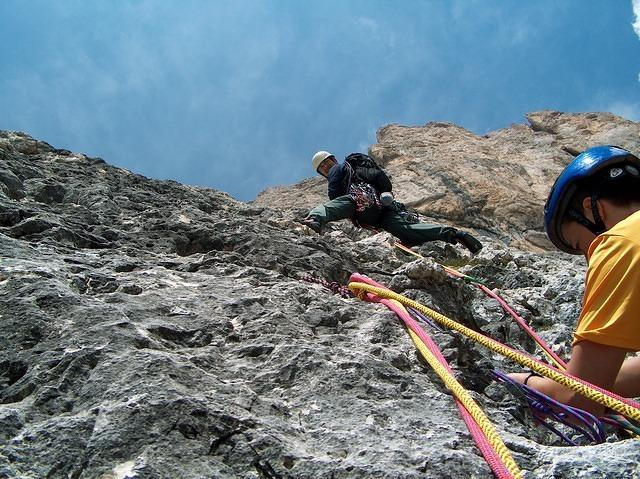 "On the ""Bianco e Nero"" route, Catinaccio, 2004"