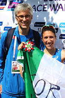 With Antonella Palmisano soon after her winning the 2017 European Race Walking Cup