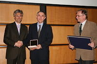 Darcy Medal Ceremony 2011: with Jan Szolgay (medallist) and Gabor Balint (citationist)